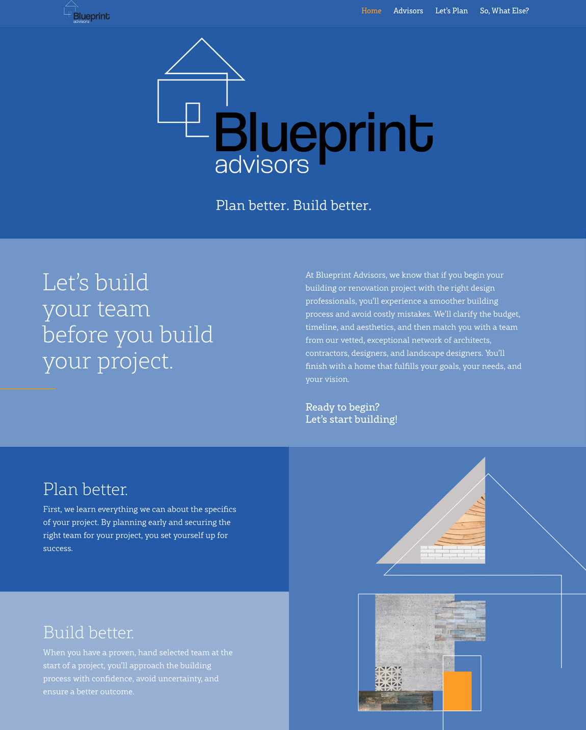 blueprint advisors website image